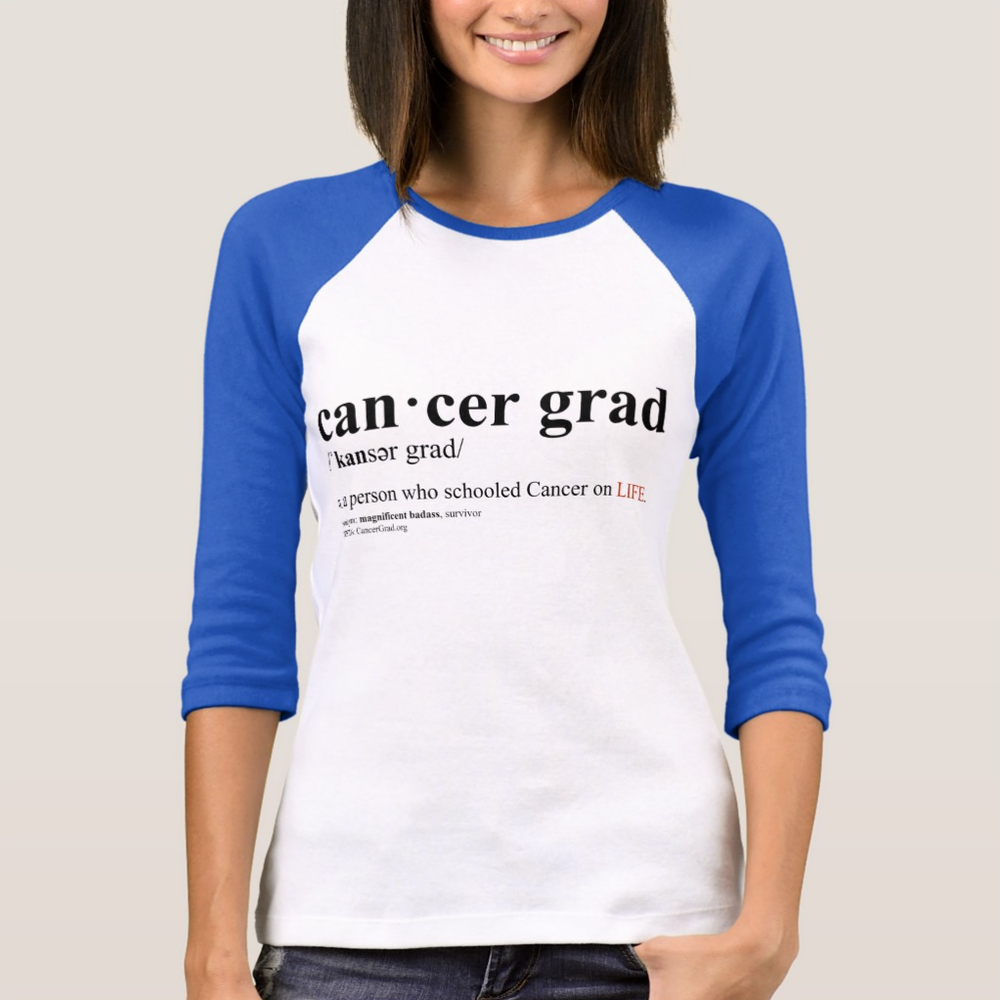 CancerGrad_Baseball_TShirt_Blue_Cancer_Grad_Definition