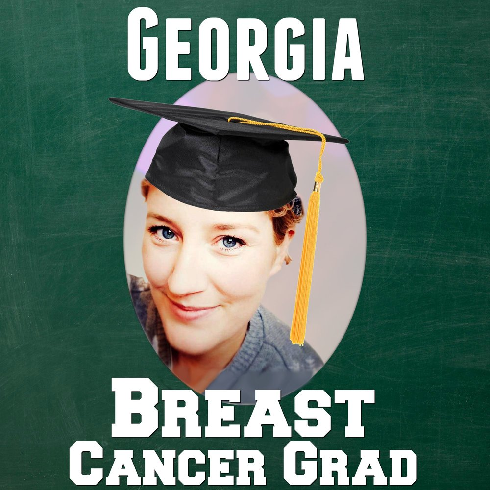 georgia cancer grad breast cancergrad yearbook photo cap graduation graduate
