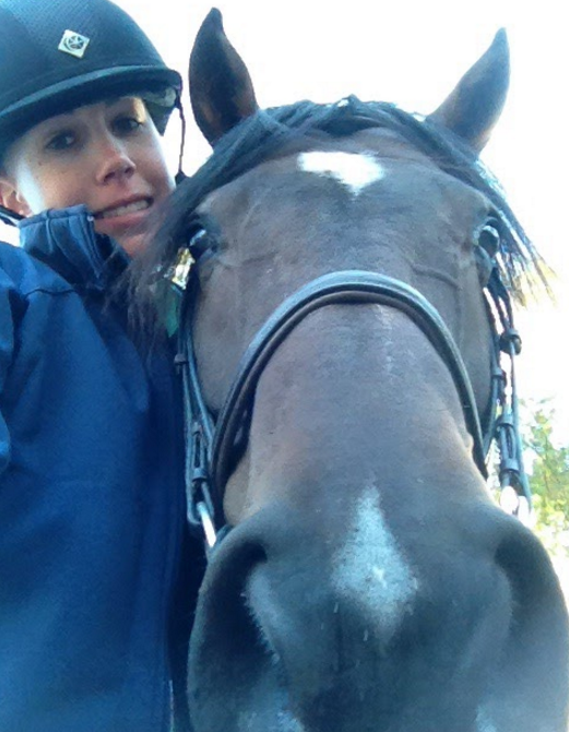 """The other thing that kept me sane through chemo: my horse, Jack. I can look back now as realize it probably wasn't the brightest idea ever to go ride right after I got a neupogen shot, but I had to take advantage of those days I had energy!"""