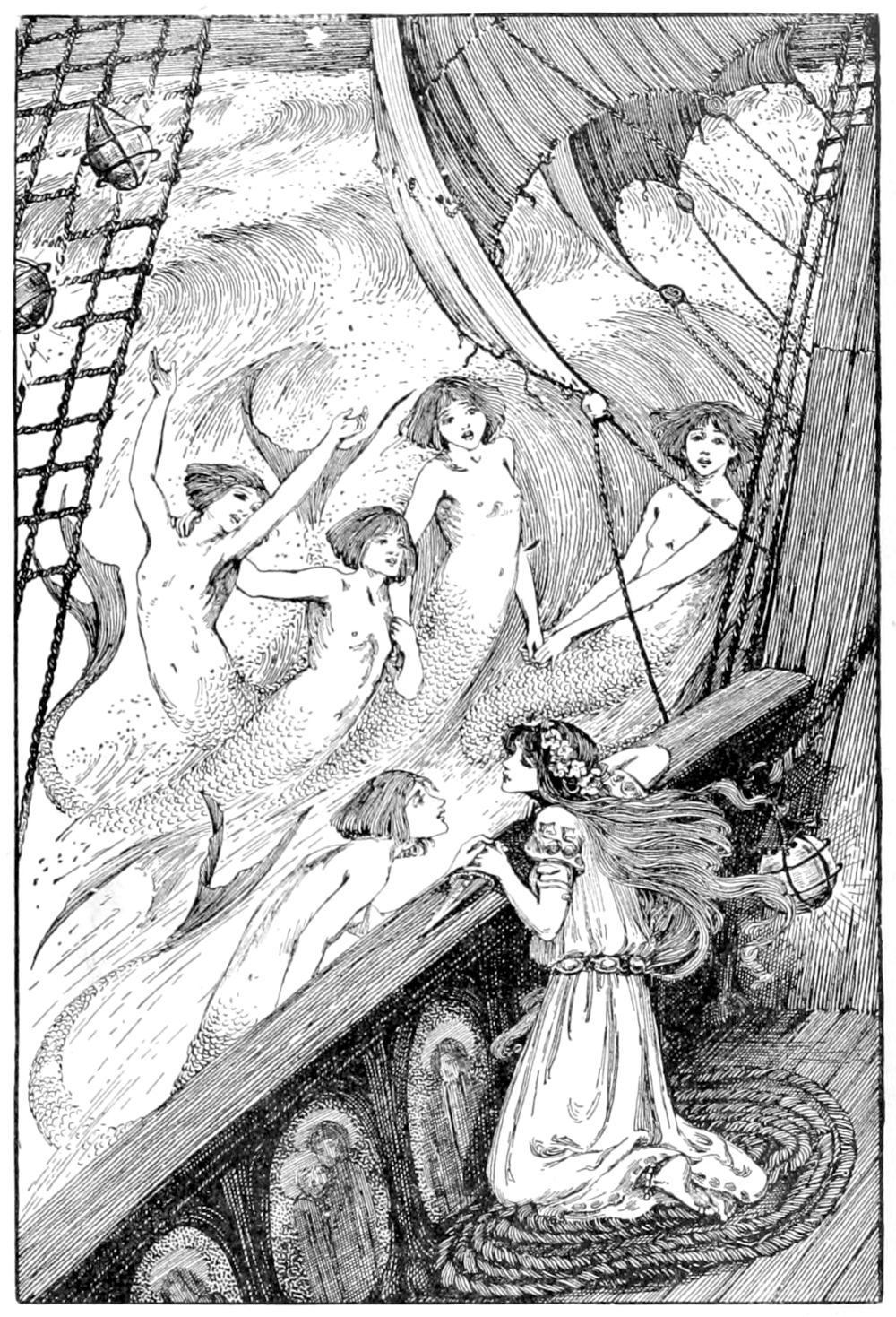 Illustration in a collection of Andersons Fairy tales