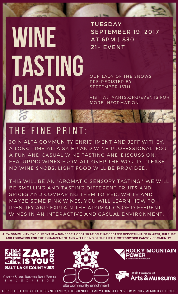 Wine Tasting Poster 1