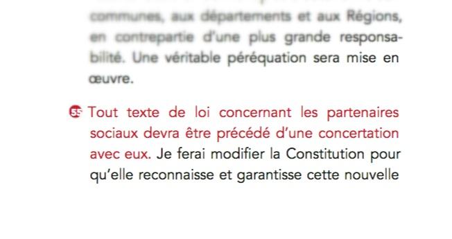 Proposition 55 du programme présidentiel de François Hollande : la concertation dans la Constitution