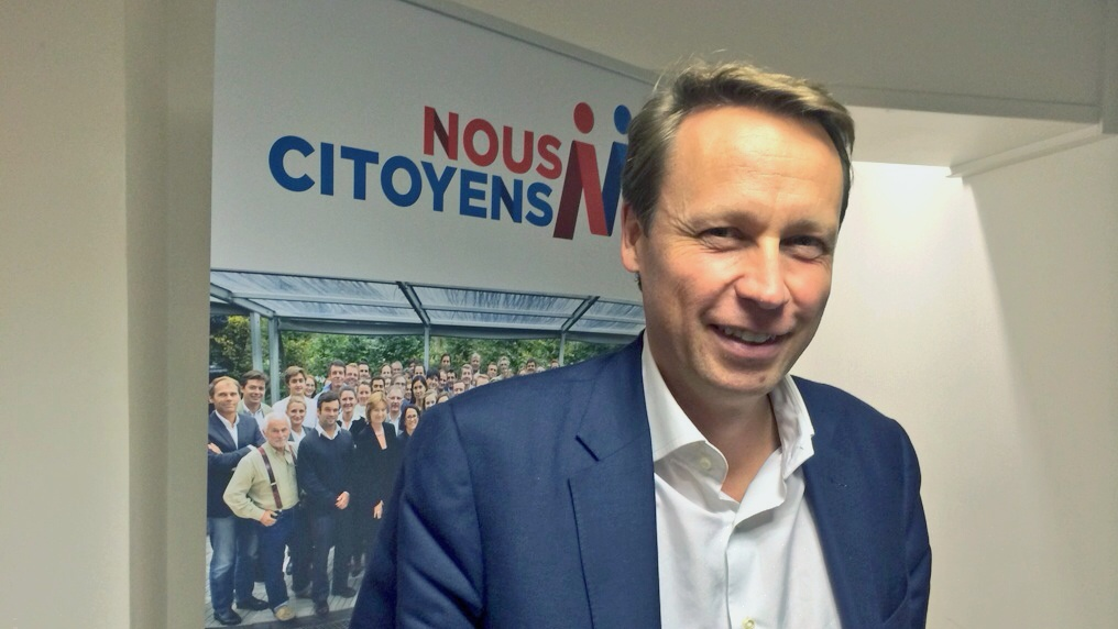 Denis Payre, le 26 novembre dans les locaux de Nous Citoyens