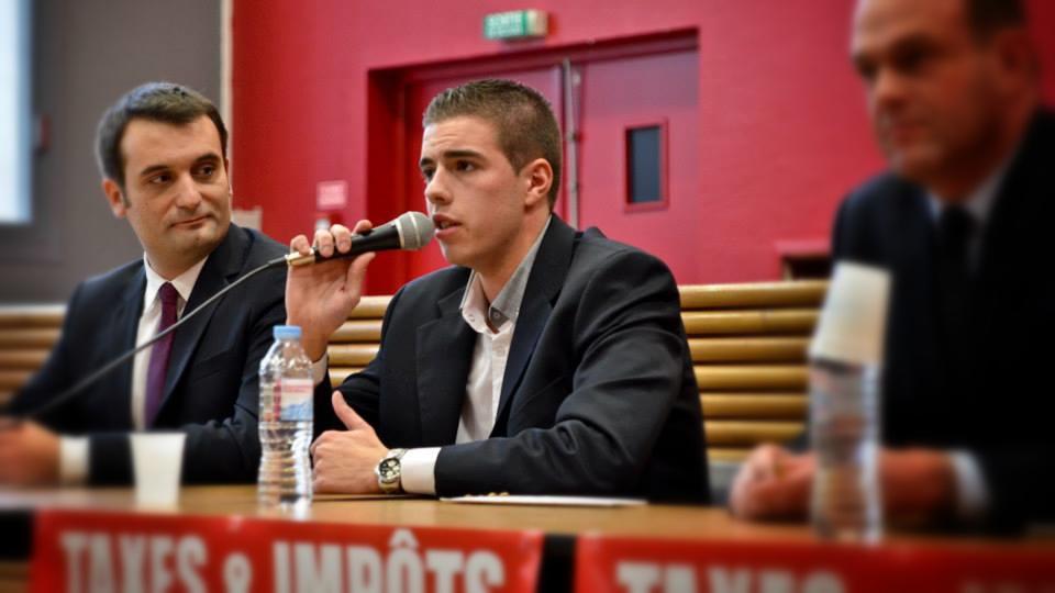 Ludovic Pajot, candidat FN à Béthune, aux côtes de Florian Philippot (image fournie par le candidat)