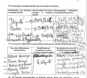Le député PS Eric Jalton a sorti sa plus belle plume pour écrire sa déclaration de patrimoine