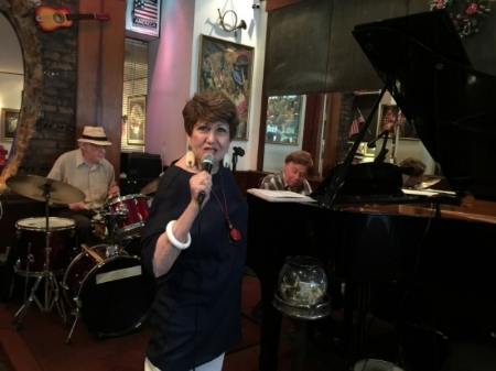 Joan singing at Cleopatra's Needle (NYC)