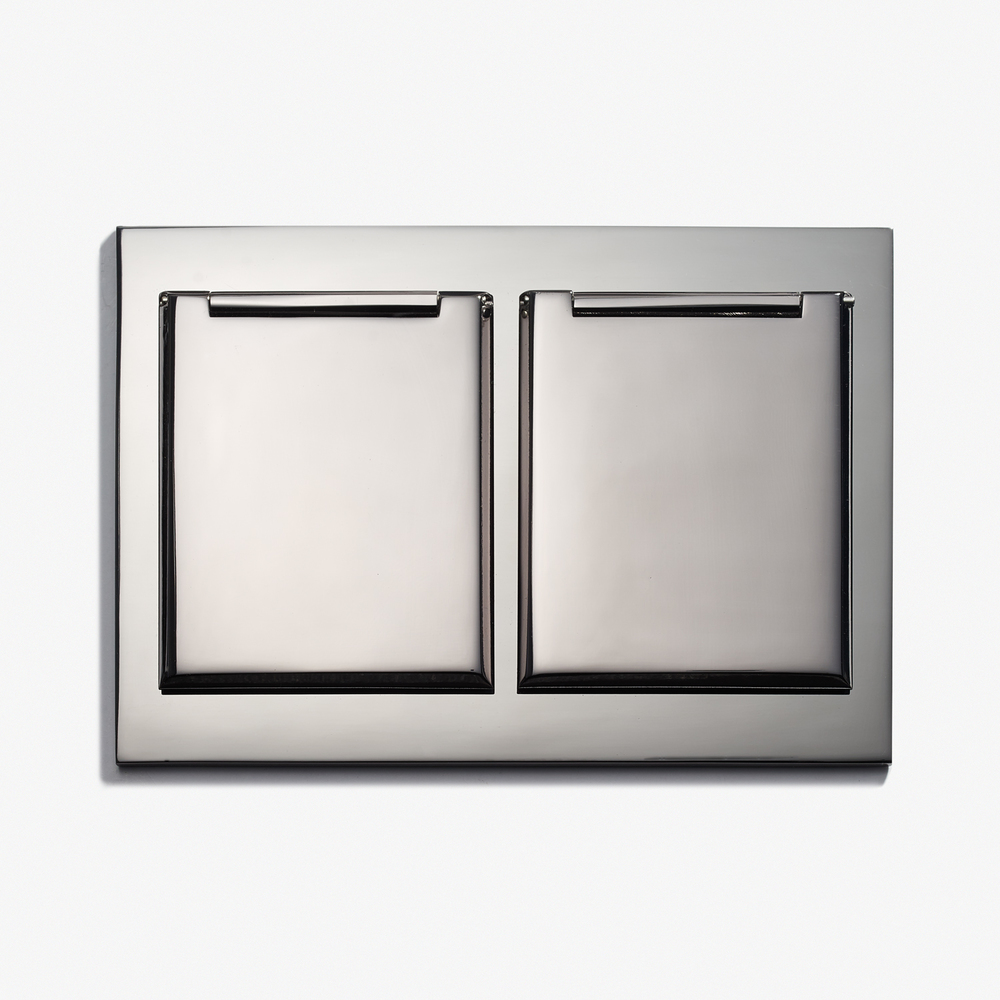 """Duplex Outlet - Covers<a href=""""/117-x-82-duplex-outlet-covers-straight-edge-nickel-brillant""""></a><strong>Nickel Brillant</strong>"""