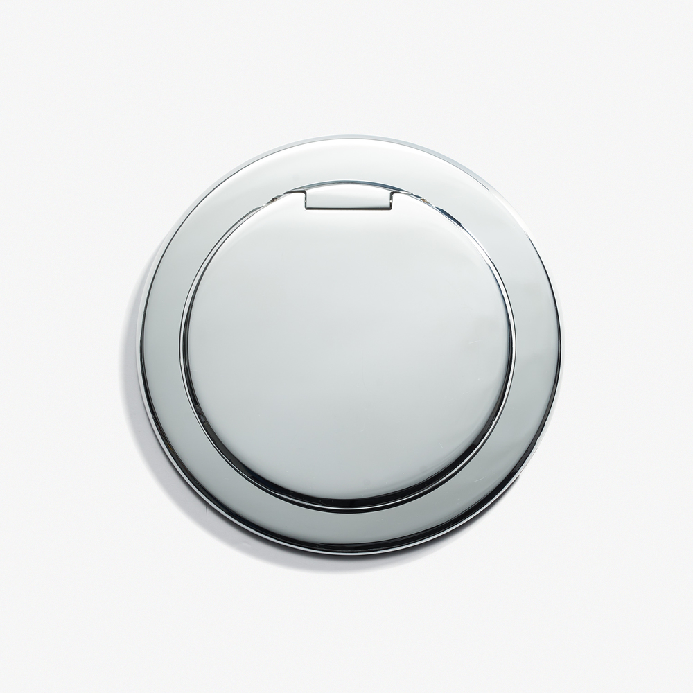 "Round Kitchen Outlet - Cover<a href=""/90d-round-kitchen-outlet-cover-chrome-vif""></a><strong>Chromé Vif</strong>"