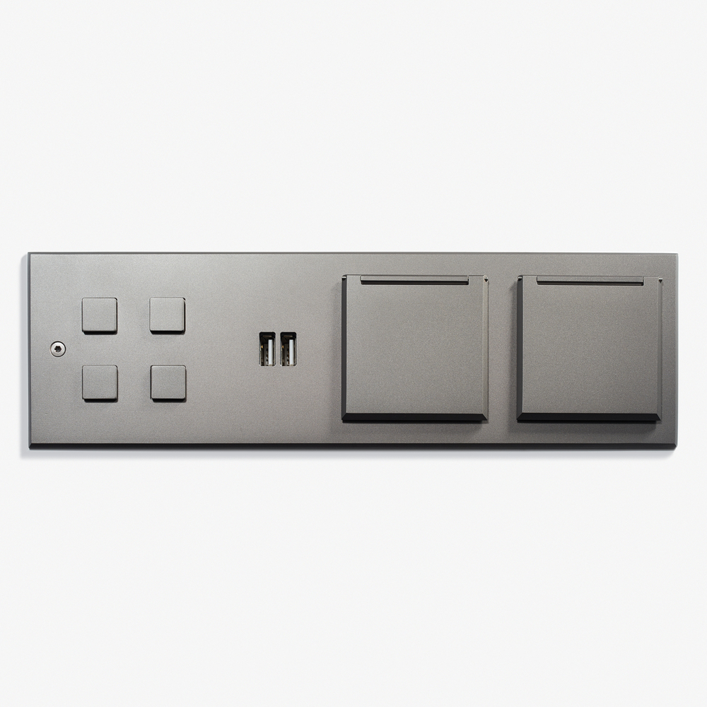 "Custom Headboard Plate - Lighting Control<a href=""/269-x-82-custom-headboard-plate-microbille-canon-de-fusil-anthracite""></a><strong>Microbillé Canon de Fusil Anthracite</strong>"