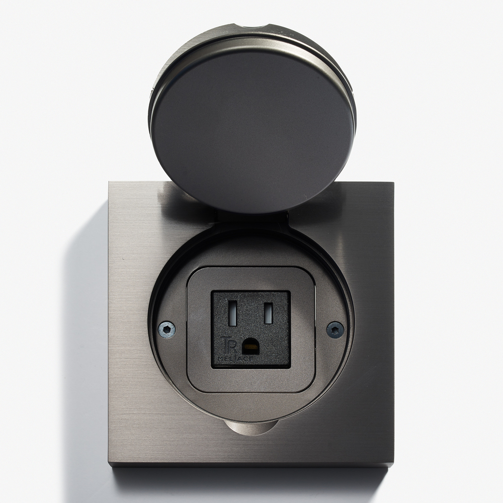 Lvl USA - 100 x 100 - Square Floor Outlet - Water Resistant - Canon de Fusil Anthracite