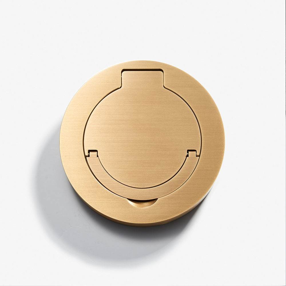 100D - Round Floor Outlet - Water Resistant - Bronze Médaille Clair