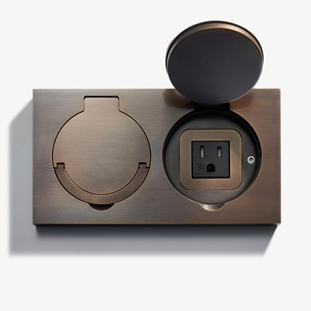 Lvl Usa - 180 x 100 - Double Floor Outlet - Water Resistant - Bronze Médaille Foncé