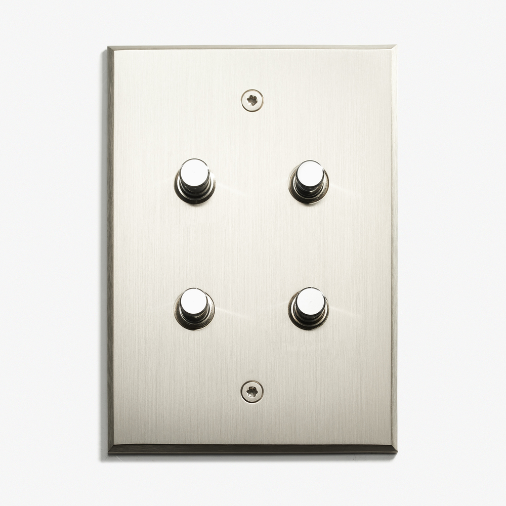 LVL-USA - 82 x 117 - 4 BP - Visible Screws - Nickel Brossé