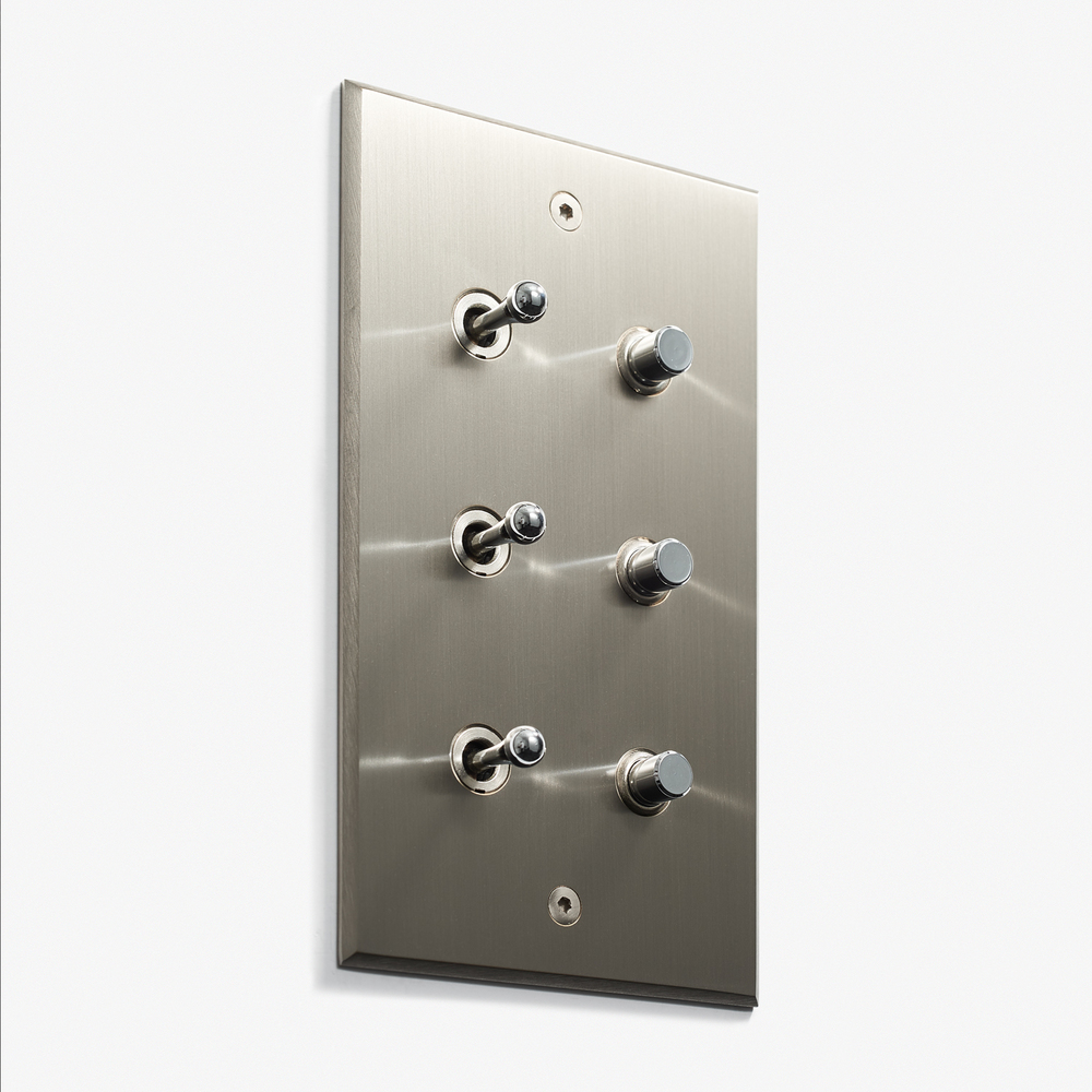 LVL-USA - 82 x 144 - 3 INV + 3 BP - Visible Screws - Nickel Brossé
