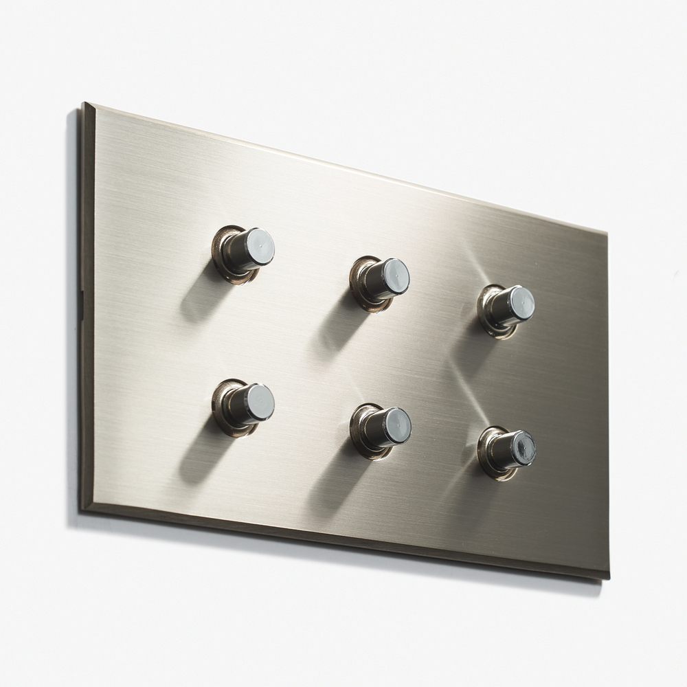 LVL-USA - 144 x 82 - 6 BP - Hidden Screws - Nickel Brossé