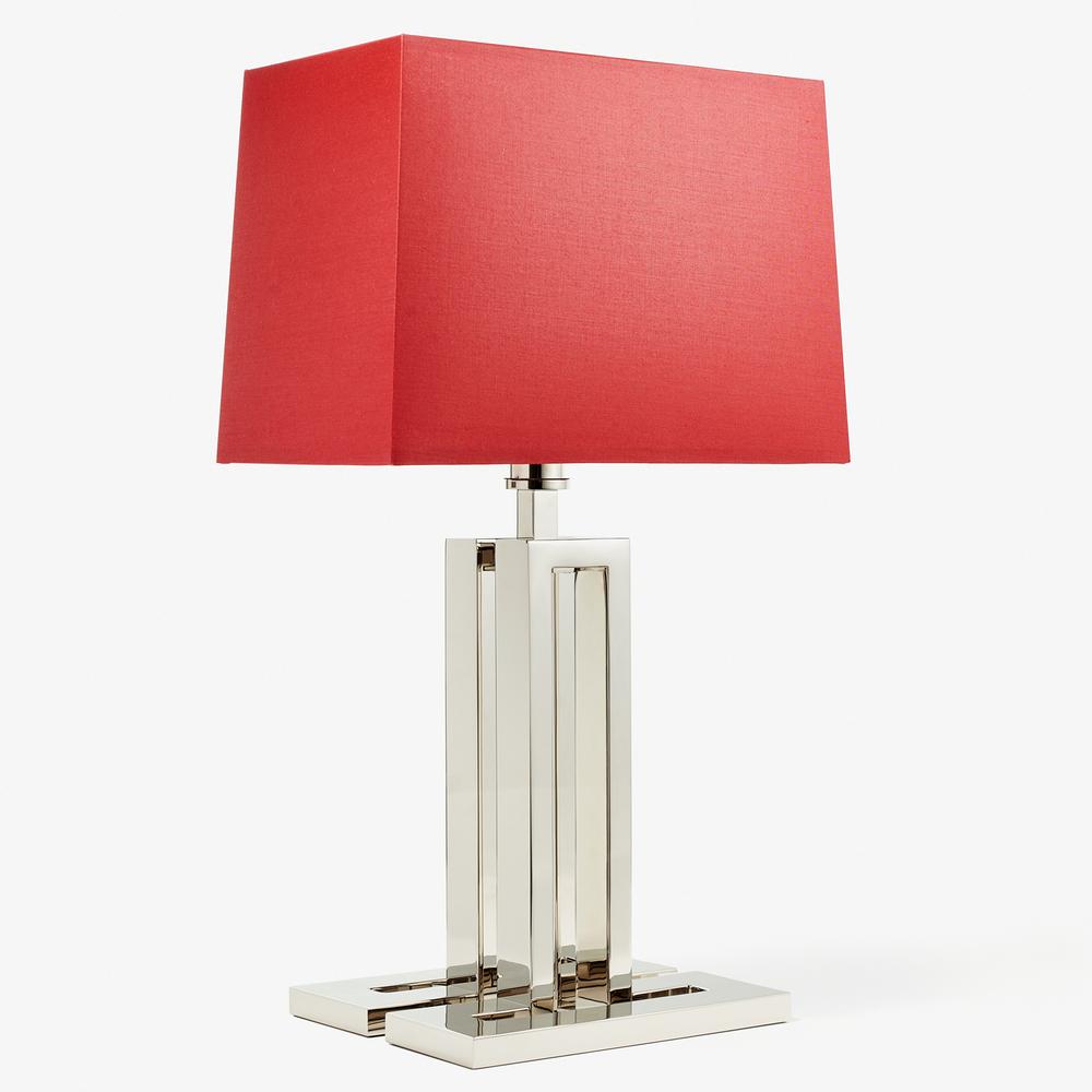 LVL-USA - Table Lamp - Madeleine - Nickel Brillant Base