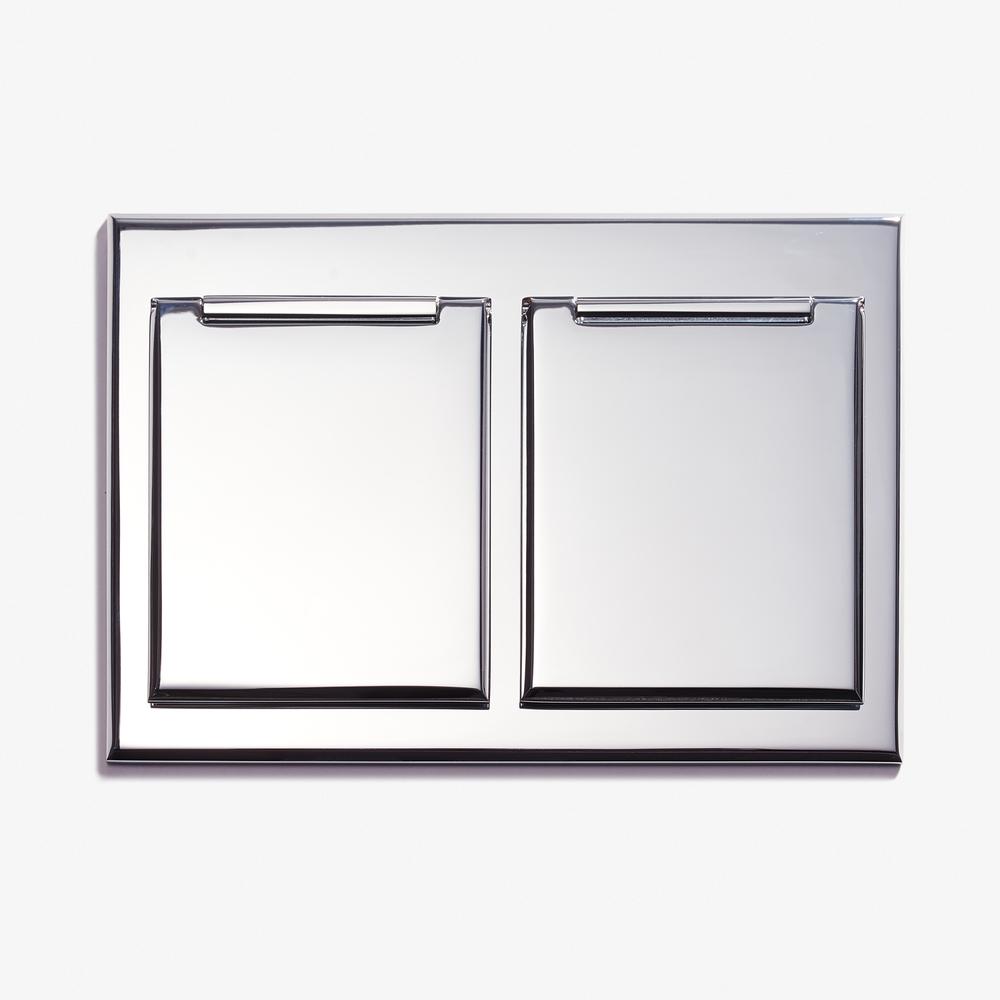 LVL-USA - 117 x 82 - Duplex Outlet - Covers - Chromé Vif