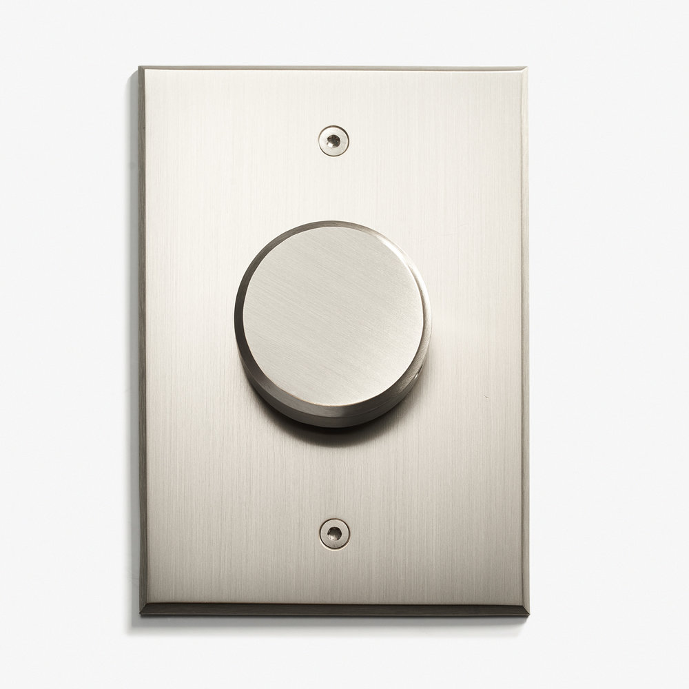 LVL-USA - 82 x 117 - Rotary Dimmer (40mm) - Nickel Brossé