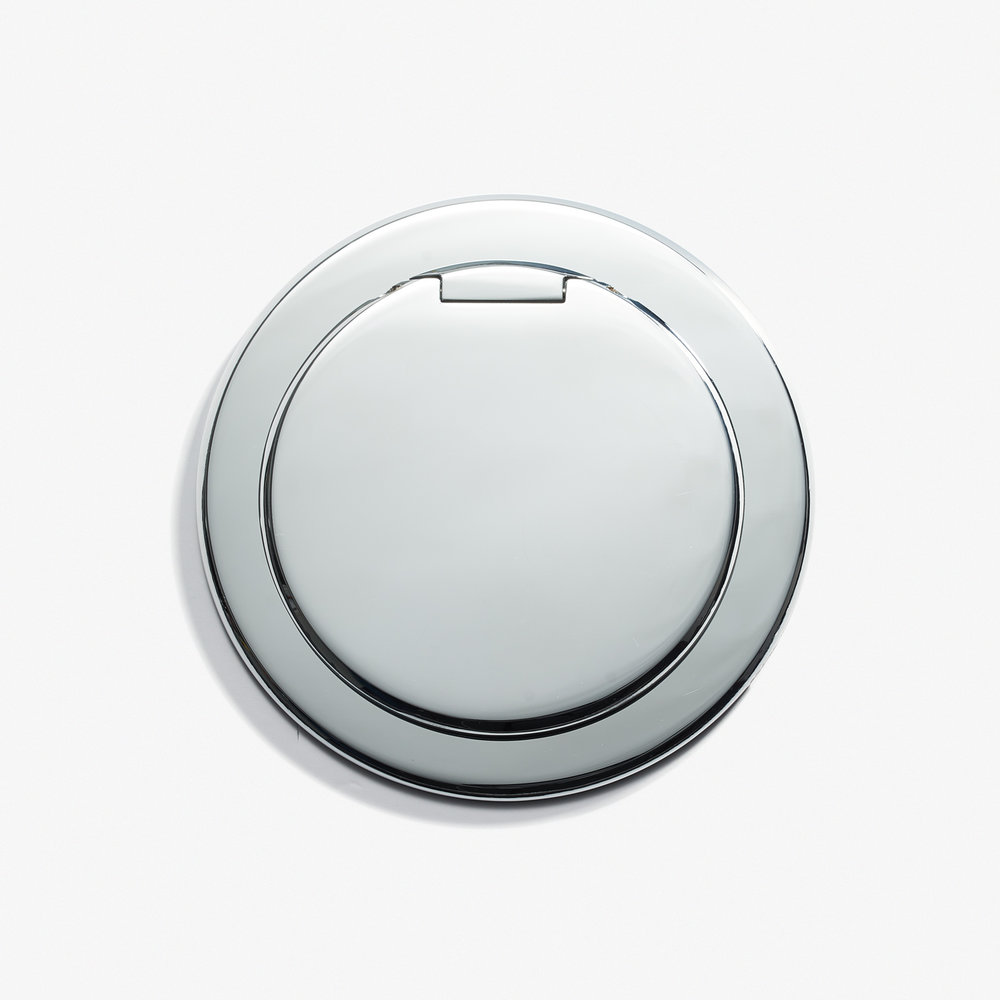 90D - Round Kitchen Outlet - Cover - Chromé Vif