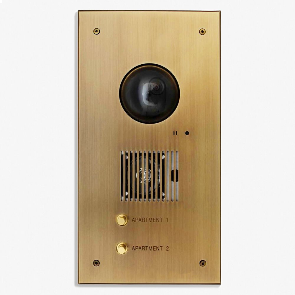 "Custom Video Intercom <a href=""/127-x-203-custom-video-intercom-plate""></a><strong>Bronze Médaille Clair</strong>"