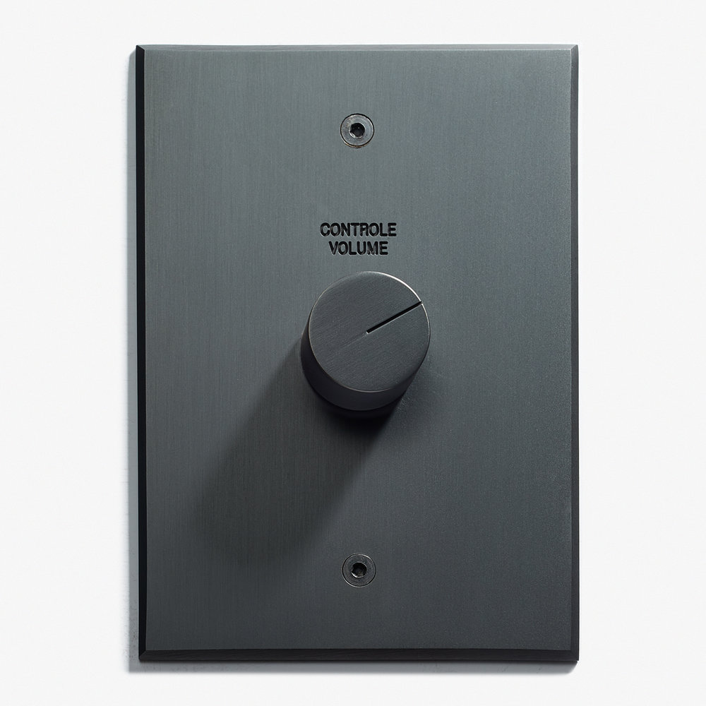 82 x 117 - 1 Volume Control + Engravins - Visible Screws - Beveled Edge - Black Stone 1   .jpg