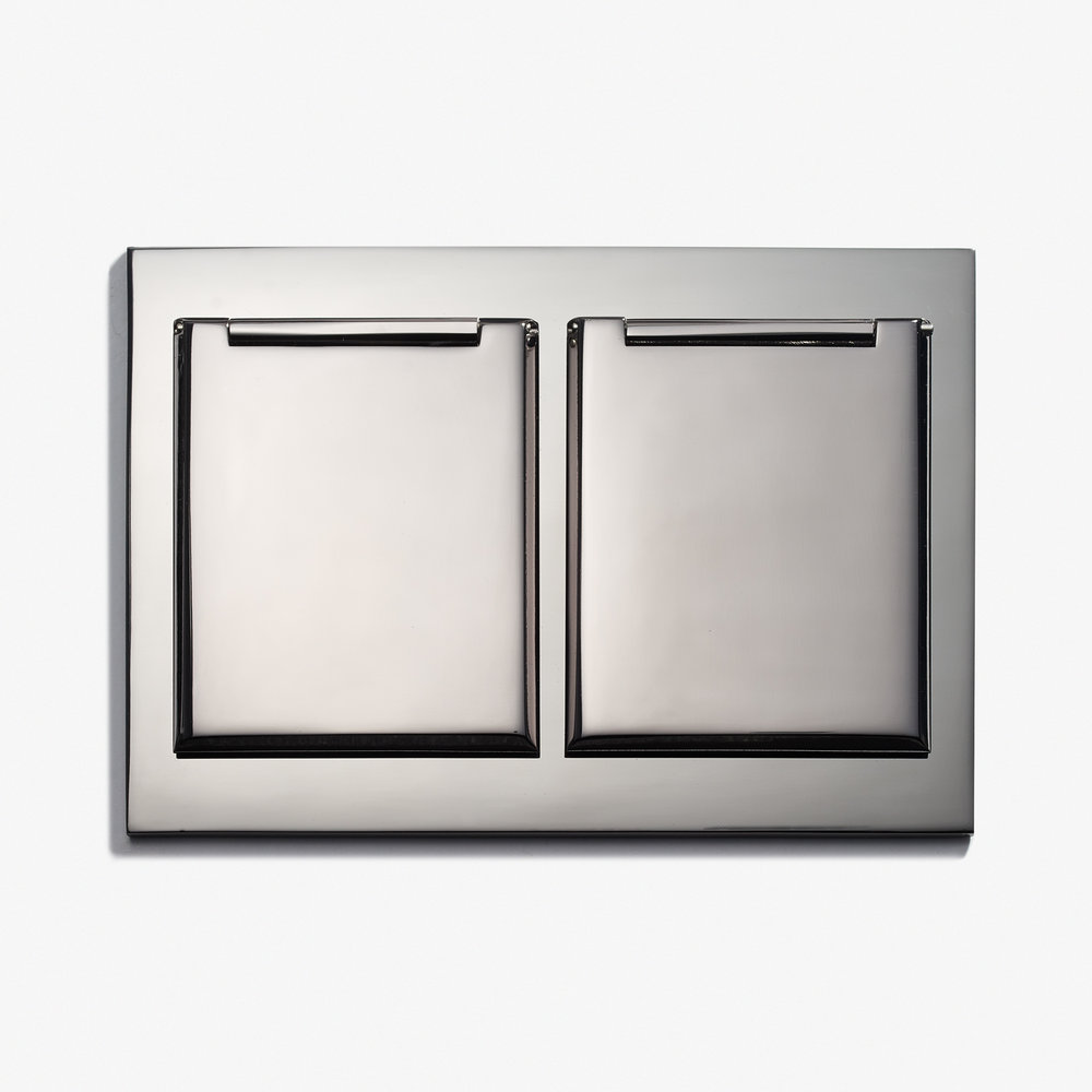 117 x 82 - Duplex Outlet - Covers - Straight Edge - Nickel Brillant 1.jpg