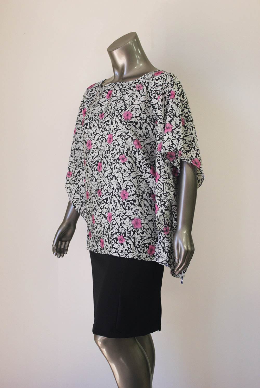Pink Flower Blouse - $120 CAD