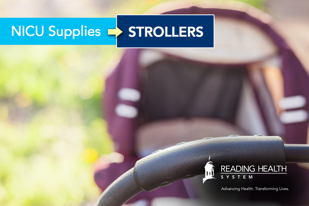 Reading Hospital NICU Supplies: Strollers