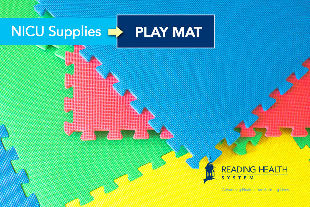 Reading Health System NICU Supplies: Play Mat