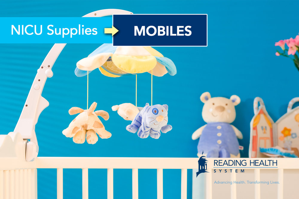 Reading Hospital NICU Supplies: Hanging Mobiles