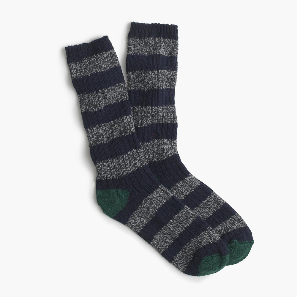 J. Crew Men's Camp Socks. Image: jcrew.com