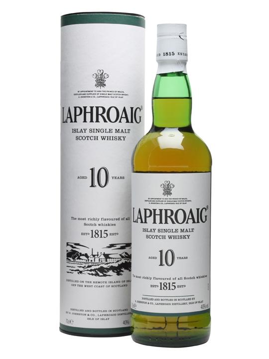 Laphroaig 10 Year Old whiskey. Image: www.laphraoig.com