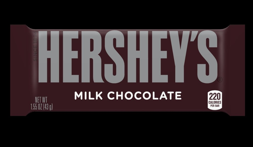 Hershey's Milk Chocolate Bar. Image: www.hersheys.com