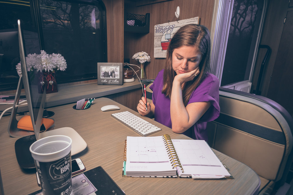 Alyssa at her workstation. Image: Kyle Kesterson