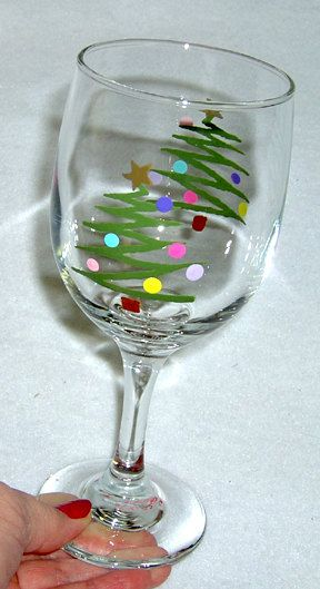 dec 21 holiday wine glass painting let 39 s paint. Black Bedroom Furniture Sets. Home Design Ideas