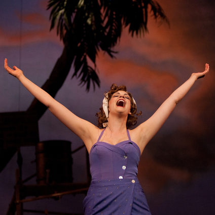 Cayman as Nellie in South Pacific with Lyric Light Opera.  Photo by Stage Images.