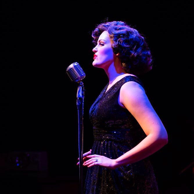 Cayman as Patsy Cline in Always… Patsy Cline at Taproot Theatre. Photo by Robert Wade Photography