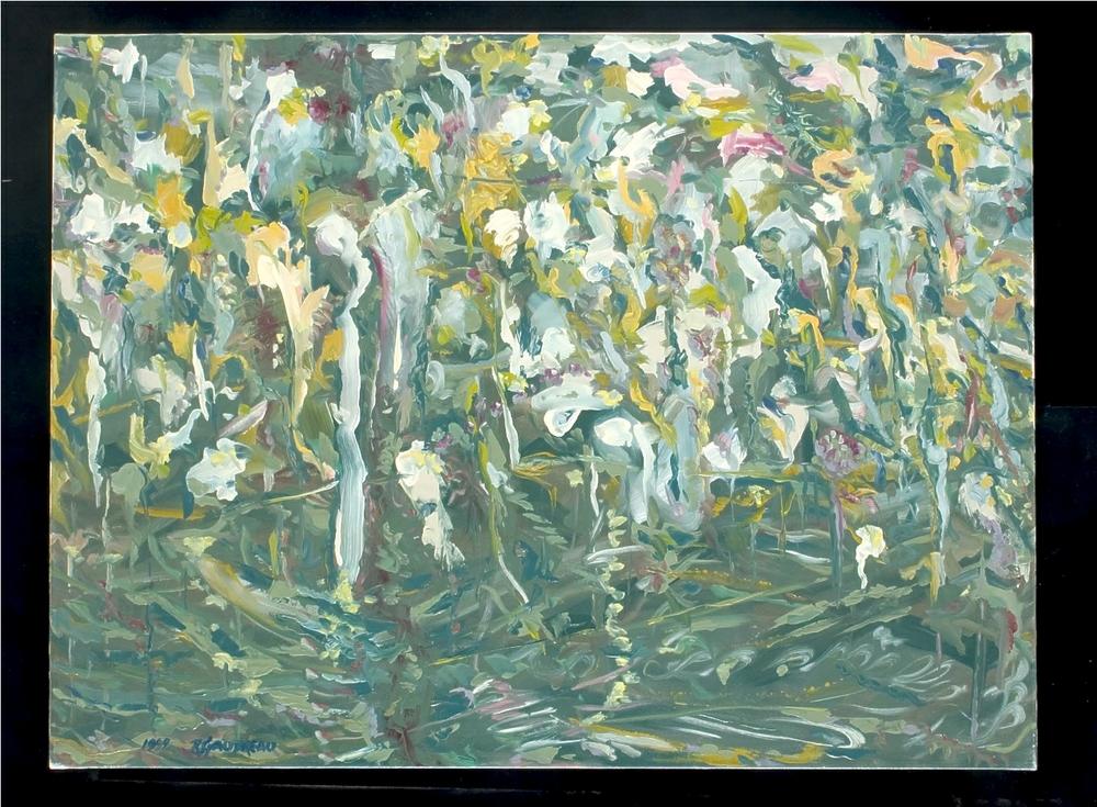 Garden1999 oil on canvas 30 x 40 inches