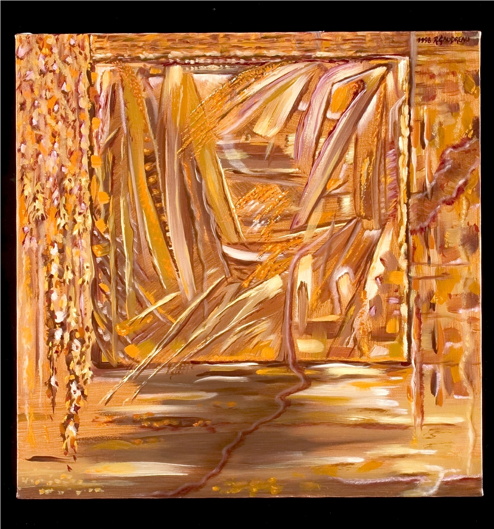 Autumn Gaze1998 oil on canvas 24 x 24 inches