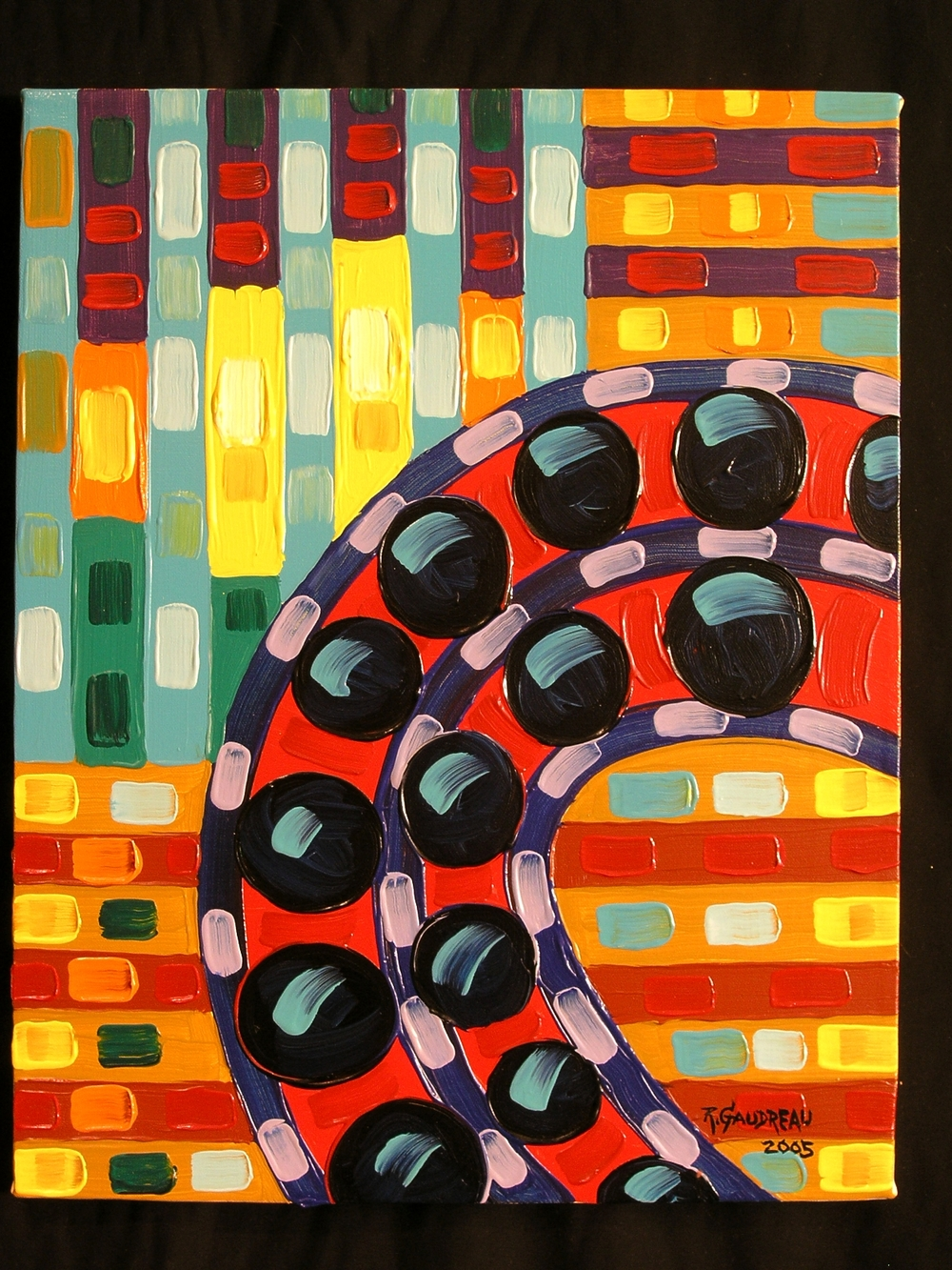 Bearings    2005 oil on canvas 20 x 16 inches