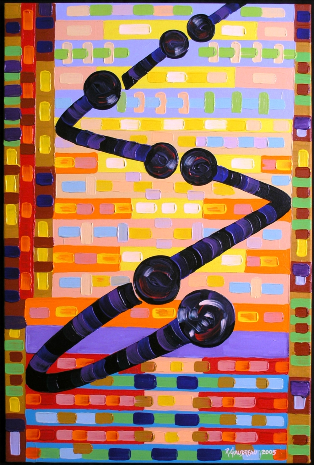 Ricochet     2005 oil on linen 36 x 24 inches