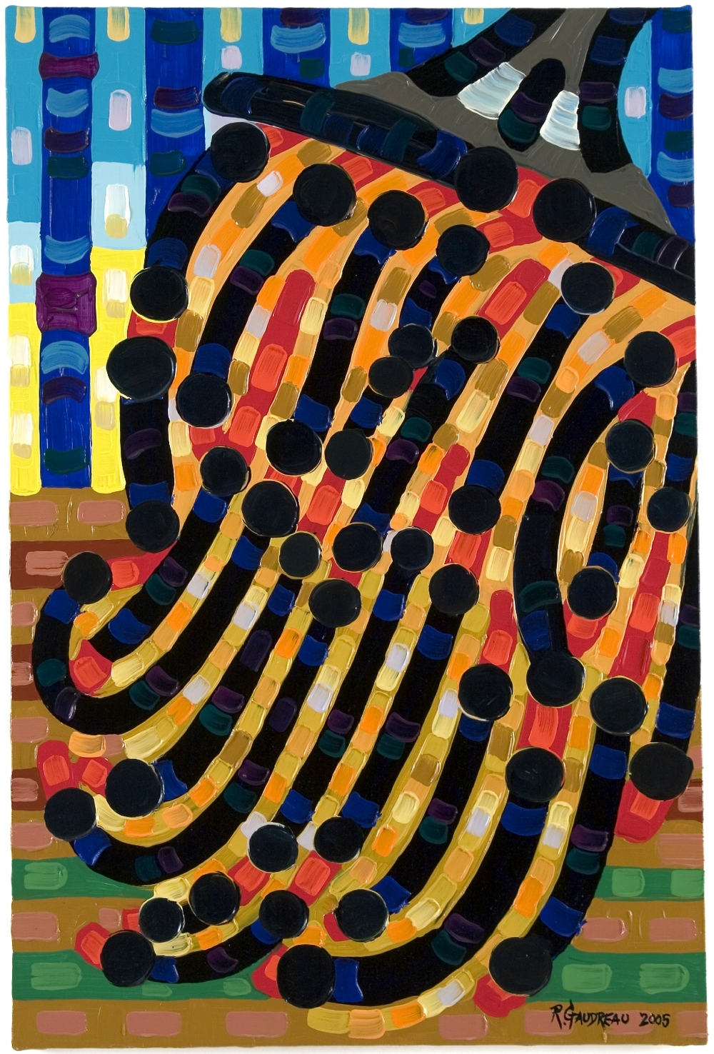 Brush     2005 oil on linen 36 x 24 inches