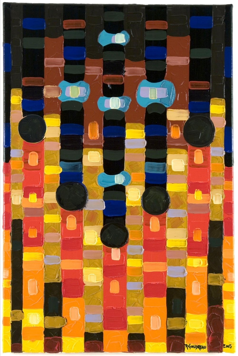 Gate     2005 oil on linen 36 x 24 inches