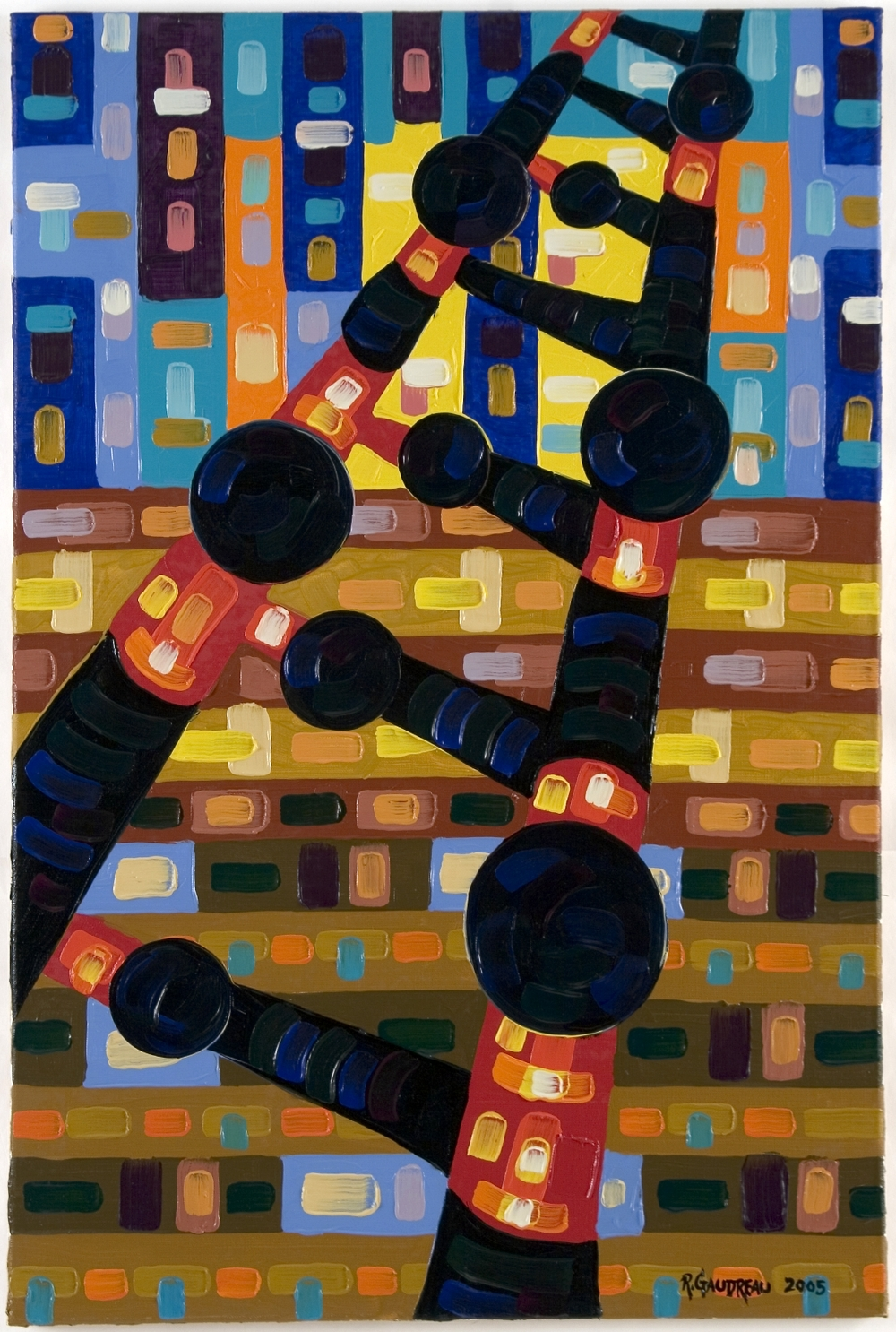 Ladder     2005 oil on linen 36 x 24 inches