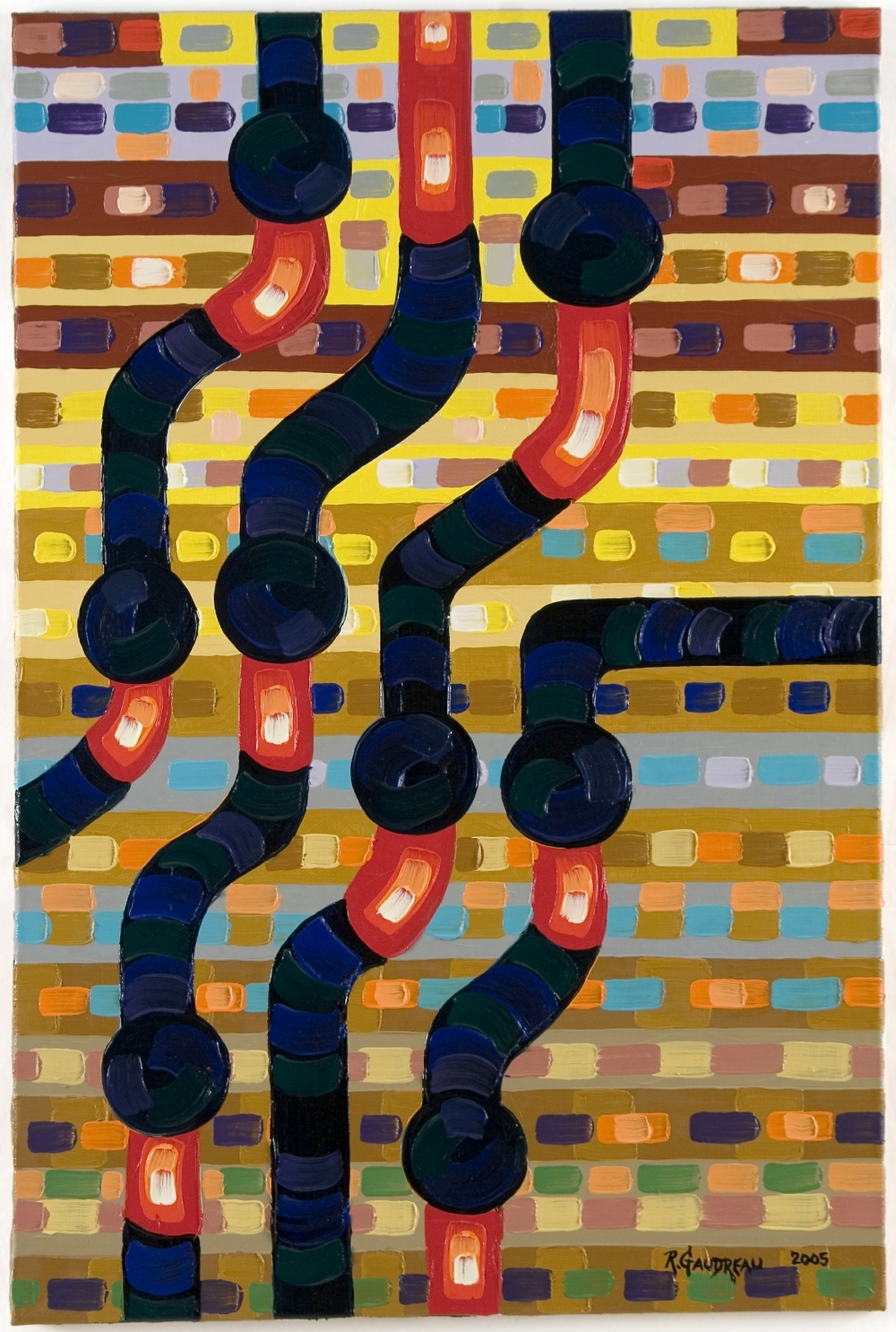 Pipes     2005 oil on linen 36 x 24 inches