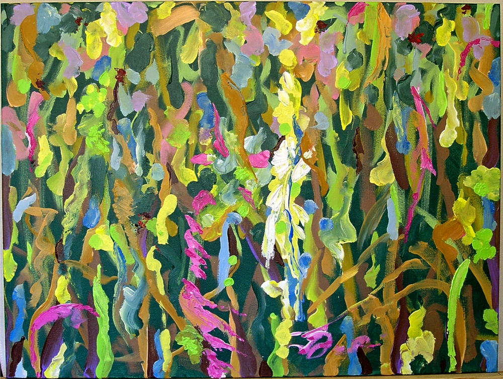 "7 Times to Flourish Number 1 - 2014 30h"" x 40""w acrylic on canvas"