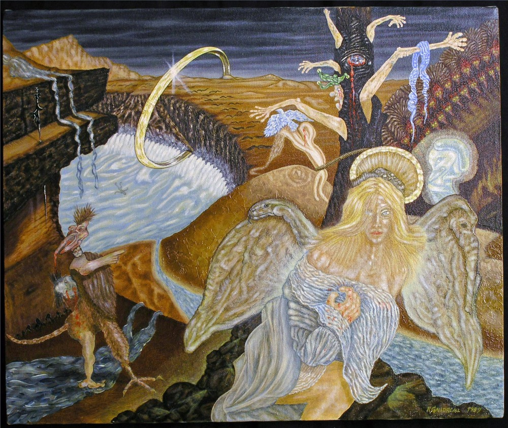 Vultures Invading the Homeland 1997 oil on canvas 20 x 24 inches