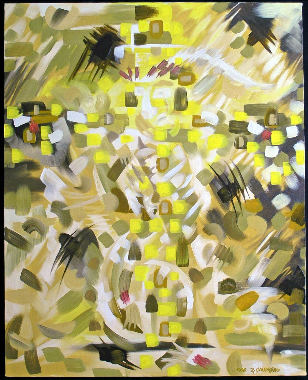 Yellow Cross    1998 oil on canvas 30 x 24 inches