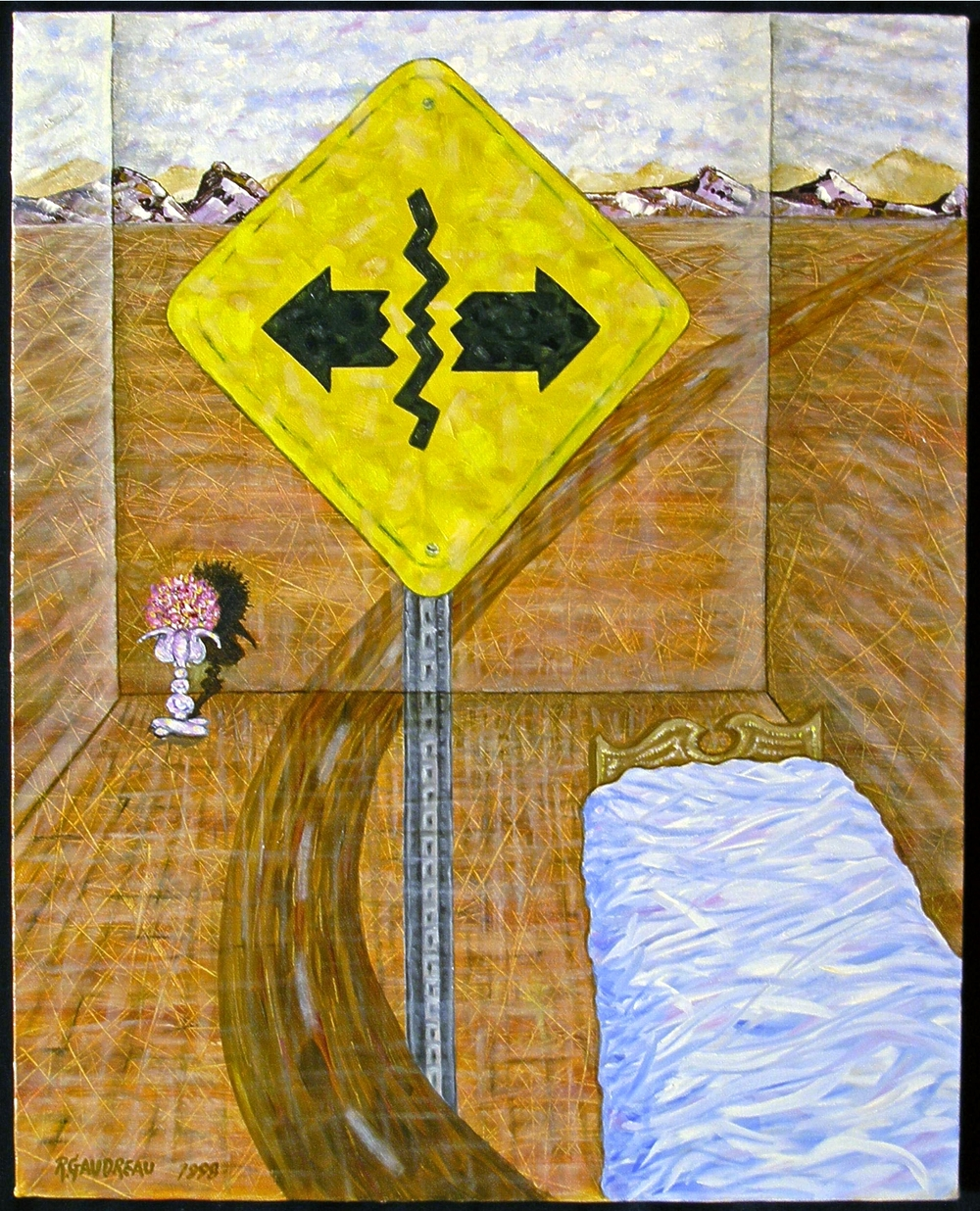 Separation Ahead  1998 oil on canvas 20 x 16 inches