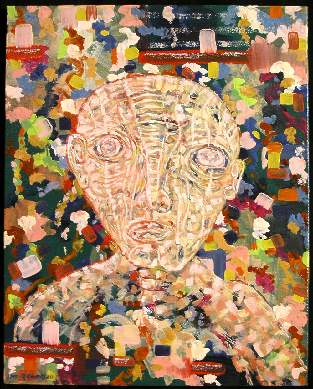 Portrait of a Stranger     1999 oil on canvas 20 x 16 inches
